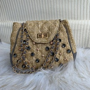 Straw Bling Purse