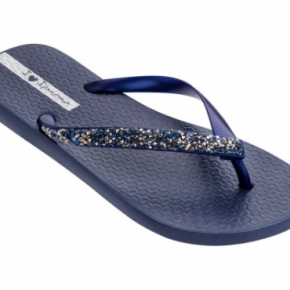 Blue Star Dust Flip Flops