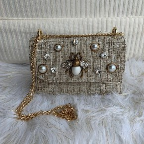 Blinged Out Bee Bag