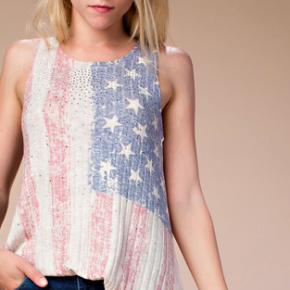 American Flag Sublimation with Stones