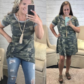 Hide Your Crazy Camo Tunic