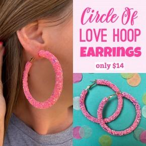 Circle Of Love Hoop Earrings