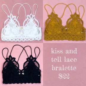 Kiss And Tell Lace Bralette