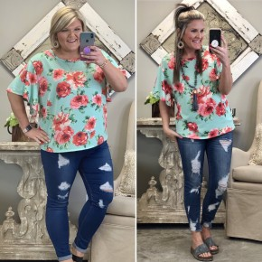 Quick To Go Floral Top