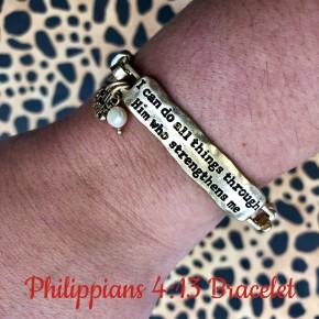 Philippians 4:13 Bracelet