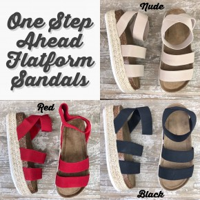One Step Ahead Flatform Sandals