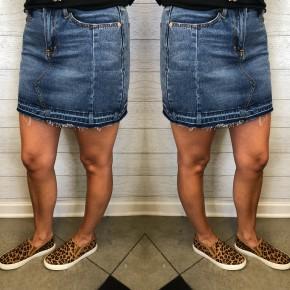 Move A Little Denim Skirt