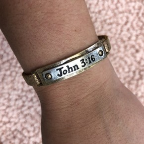 John 3:16 Leather Bracelet
