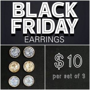 Black Friday Earrings