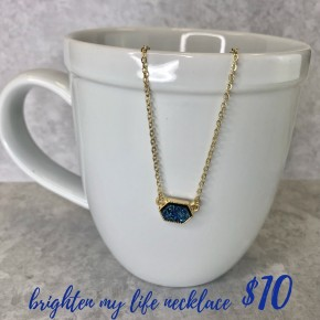 Brighten My Life Necklace Blue