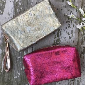 Sassy Snake Skin Makeup Bag