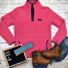 Preppy Pink Pull Over