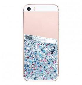 Glitter Phone Pocket Blue