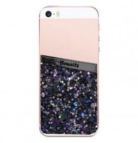 Glitter Phone Pocket Black