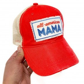 All American Mama Ponytail Hat