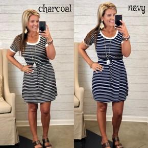 Stripe Away Dress FINAL SALE *Final Sale*
