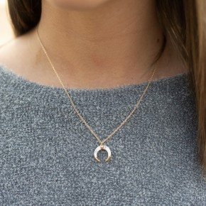 Over The Moon Dainty Necklace