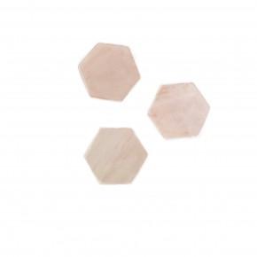 Hexagon Phone Stone Pink