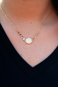 Streets Of Gold Dainty Necklace