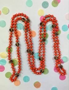 Crazy About You Wrap Necklace Coral