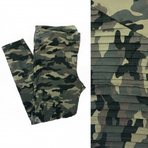 Make Up My Mind Camo Leggings Olive