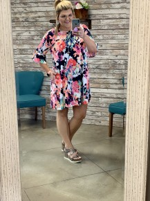Everything's Gonna be Alright Floral Dress