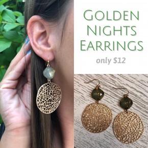 Golden Nights Earrings