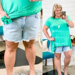 The Brynn Plus Shorts Denim