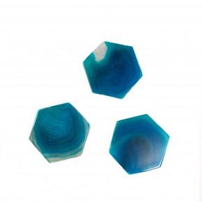 Hexagon Phone Stone Blue