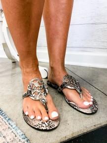 Follow My Lead Sandals Snake