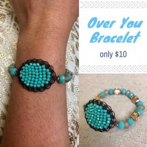 Over You Bracelet Blue