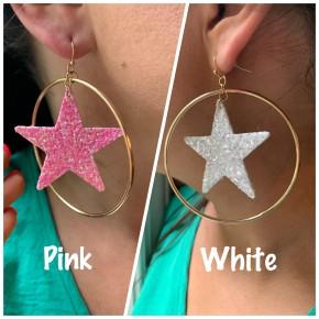 Glittery Goodness Star Earrings