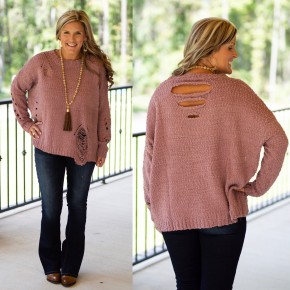 Moving On Sweater Mauve