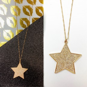 Always A Star Necklace Gold