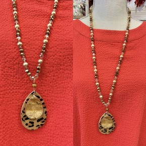 Over The Edge Necklace Brown