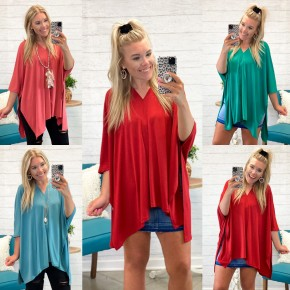 Getting Over You Poncho Top *Final Sale*