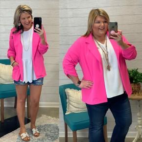 Pretty In Pink Blazer