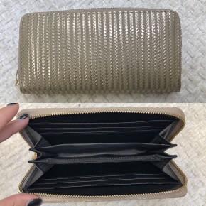 Gold Metallic Stripe Wallet - BLACK FRIDAY FINAL SALE