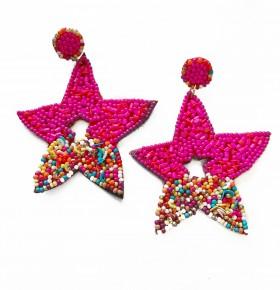 Starry Nights Earrings Fuchsia