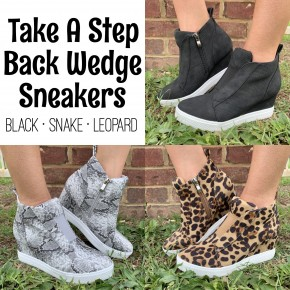 Take A Step Back Wedge Sneakers