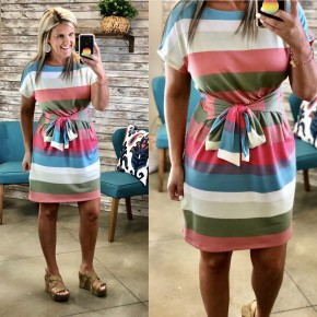Strawberry Stripes Dress