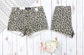 Leopard Cut Off Shorts