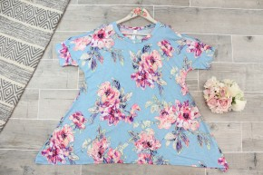 Bright Cold Shoulder Floral Top
