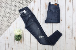 Slightly Distressed Skinny Judy Blue Jeans