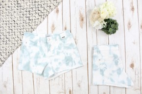 Did You Say Sage Green Tie Dye Judy Blue Shorts