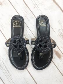 Black Sparkly Sandal