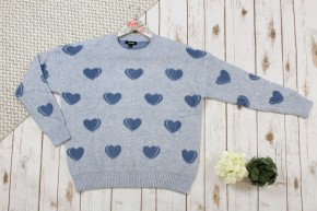 Heart Knit Pullover Sweater
