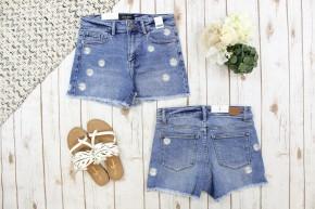 Daisy Embroidery Judy Blue Shorts