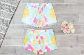 Tie Dye Jean Shorts