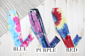 Tie Dye Distressed Jeans